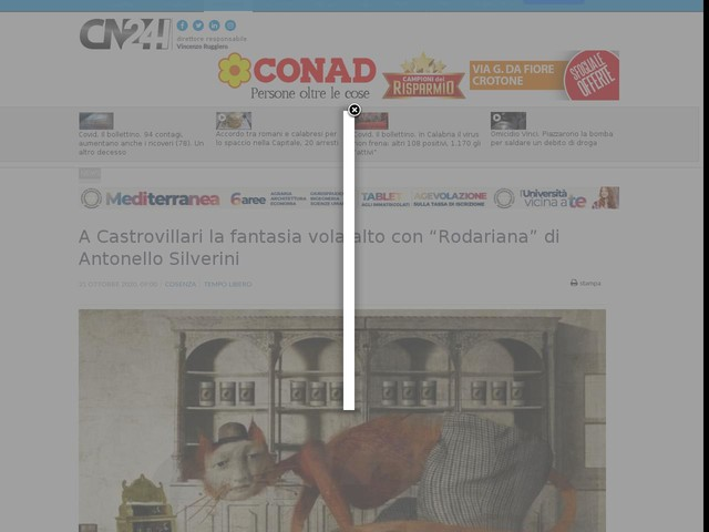 """A Castrovillari la fantasia vola alto con """"Rodariana"""" di Antonello Silverini"""