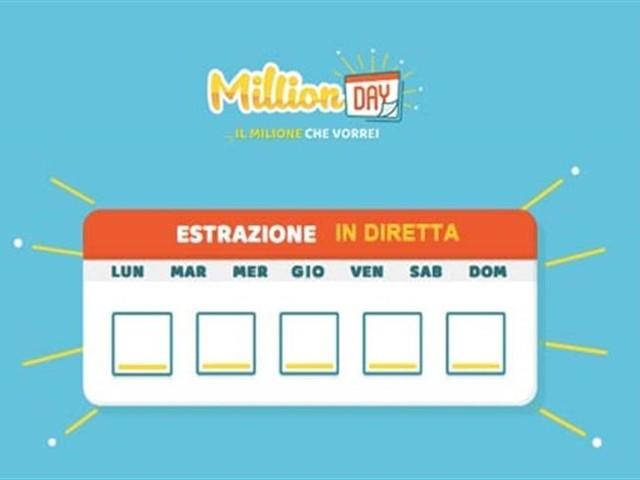 MILLION DAY/ Estrazione numeri vincenti domenica 18 ottobre 2020