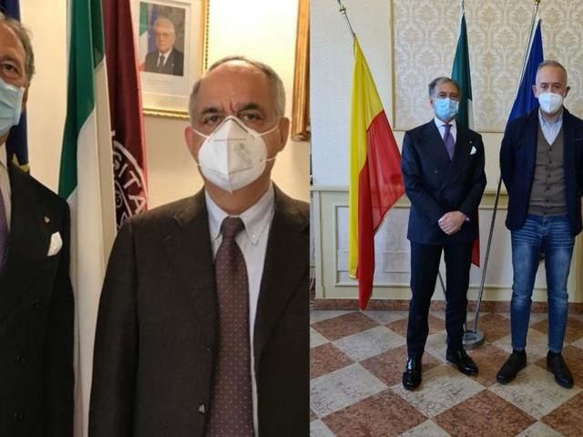 Il questore Pignataro ai saluti, incontro con il rettore Unimc e con il sindaco di Civitanova