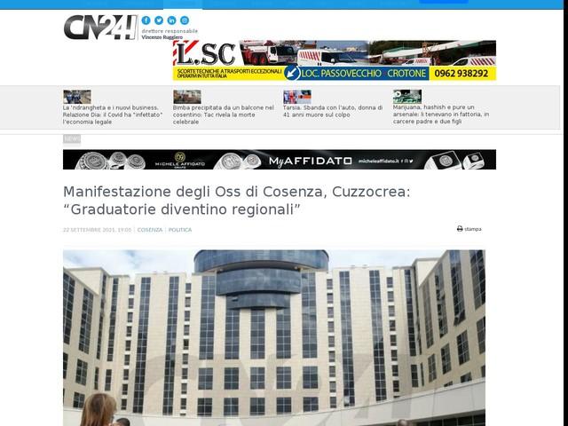 """Manifestazione degli Oss di Cosenza, Cuzzocrea: """"Graduatorie diventino regionali"""""""