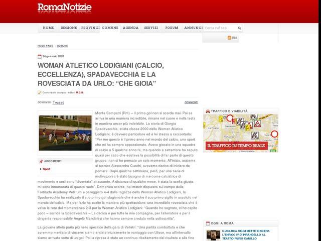"""Woman Atletico Lodigiani (calcio, Eccellenza), Spadavecchia e la rovesciata da urlo: """"Che gioia"""""""