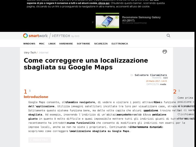 Come correggere una localizzazione sbagliata su Google Maps