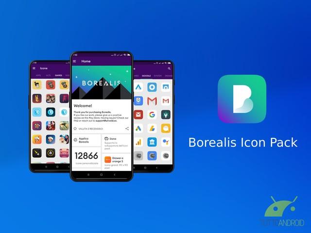 Borealis è un'icon pack da 12.000 icone vettoriali dall'aspetto colorato e omogeneo