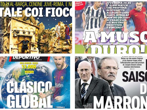 """Da Juve-Roma a """"Re Hamsik"""" e il Milan: rassegna"""