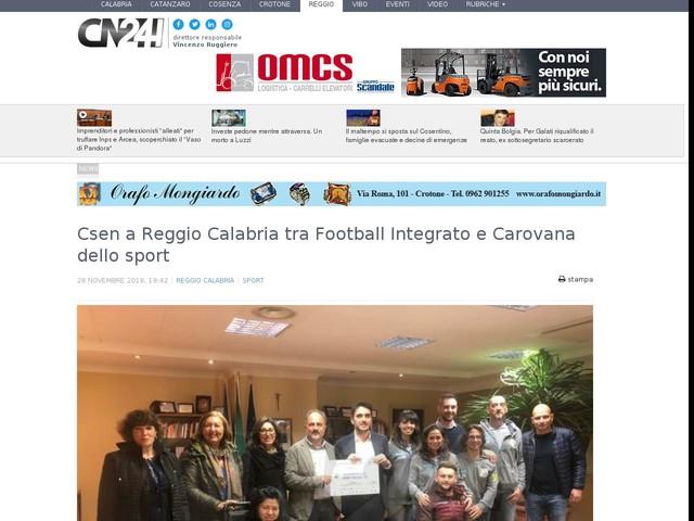 Csen a Reggio Calabria tra Football Integrato e Carovana dello sport