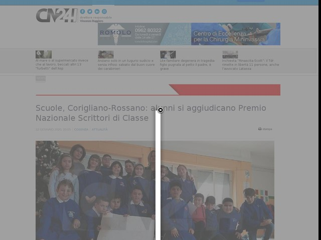 Scuole, Corigliano-Rossano: alunni si aggiudicano Premio Nazionale Scrittori di Classe