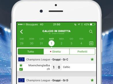 Calcio in Diretta, l'app si aggiorna alla vers 3.1