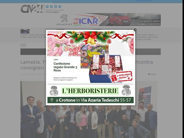 Lamezia. FI, Ruggero Pegna candidato a sindaco incontra consiglieri del centrodestra