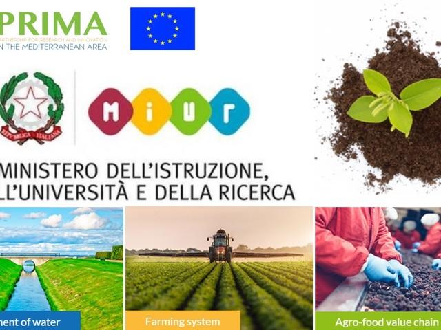 Italia protagonista dei bandi PRIMA per le risorse idriche e sistemi agroalimentari nel Mediterraneo