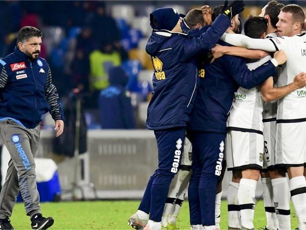 """Napoli-Parma, Gattuso: """"La squadra sta male, primi 10 minuti sono una sciagura umana"""""""