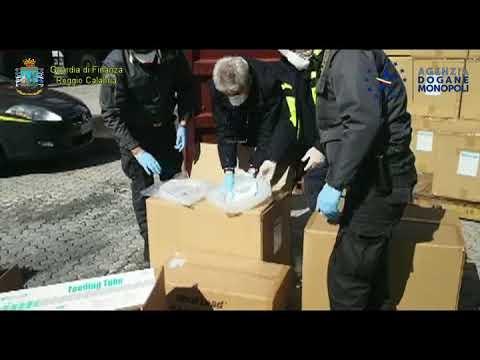 Requisite al Porto di Gioia Tauro 19 tonnellate di materiale medico sanitario