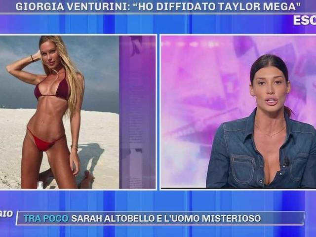 "Pomeriggio Cinque, Giorgia Venturini ""ho diffidato Taylor Mega"" | Video Mediaset"
