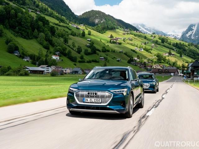 Audi e-tron - L'elettrica attraversa 10 Paesi in 24 ore