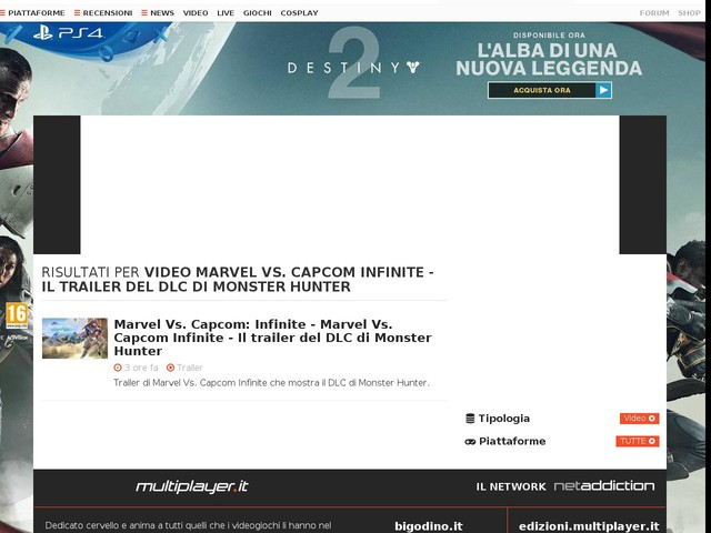 Marvel Vs. Capcom Infinite - Il trailer del DLC di Monster Hunter