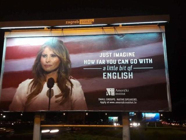 """""""Immagina dove puoi arrivare parlando un po' d'inglese"""": la pubblicità dell'istituto croato è geniale"""