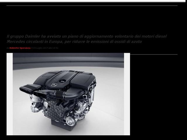 Richiamo Mercedes 2017? No, solo aggiornamento volontario per 3 milioni di veicoli con motore diesel
