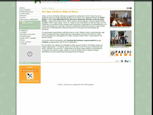 PR Colli Euganei - Da Capo Verde in visita al Parco