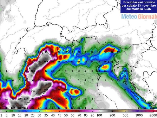 ALLARME MALTEMPO IMMINENTE, nubifragi e paura alluvione Liguria e Piemonte