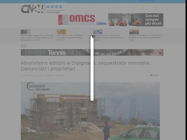 Abusivismo edilizio a Dipignano, sequestrato immobile. Denunciati i proprietari