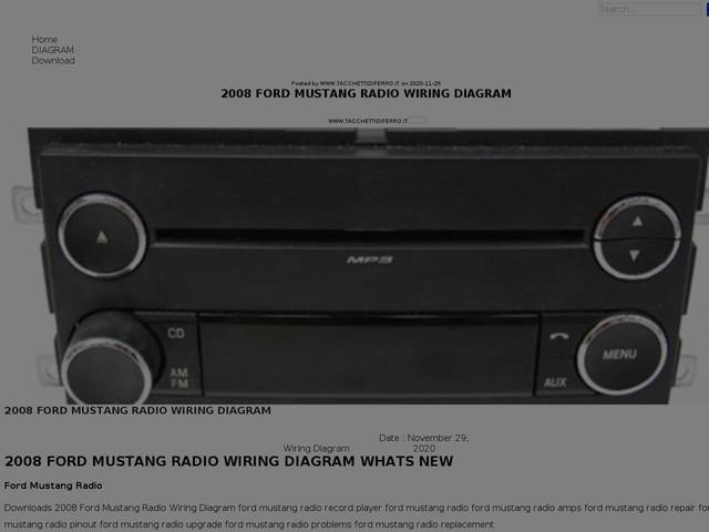 Ford Mustang Radio Wiring Diagram