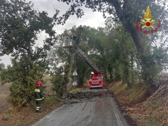 Maltempo, oltre mille interventi dei vigili del fuoco in tutta Italia