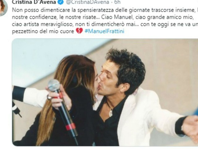 Da Fiorello ai Pooh, l'abbraccio social per Manuel Frattini