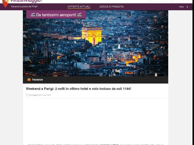 Weekend a Parigi: 2 notti in ottimo hotel e volo incluso da soli 116€!