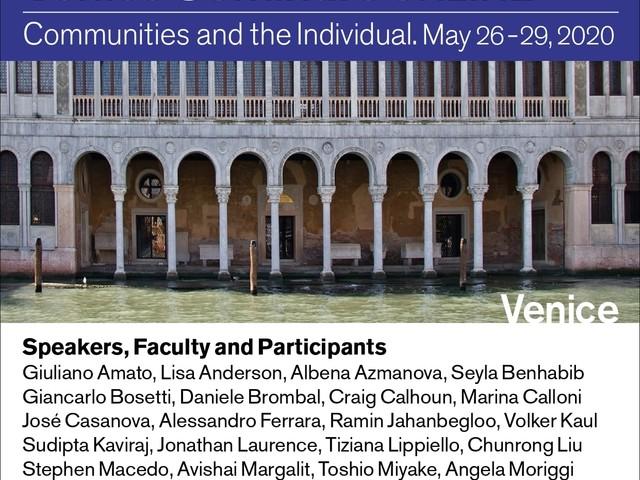Amato, Walzer, Urbinati, Margalit Al via i Seminari di Venezia 2020