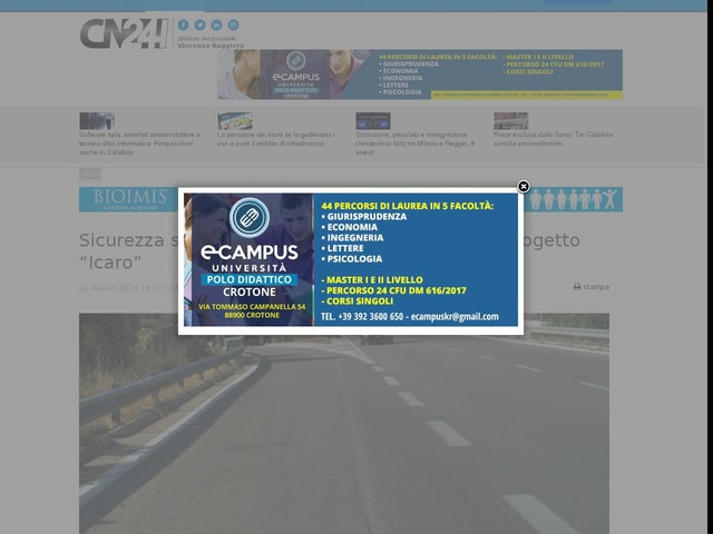 """Sicurezza stradale, conclusa la 19 edizione del progetto """"Icaro"""""""
