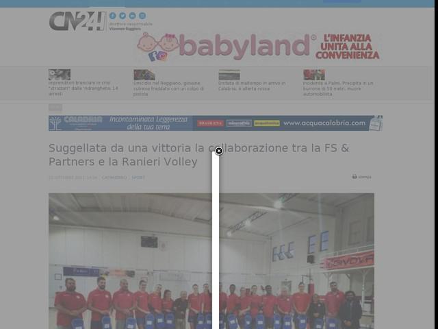 Suggellata da una vittoria la collaborazione tra la FS & Partners e la Ranieri Volley