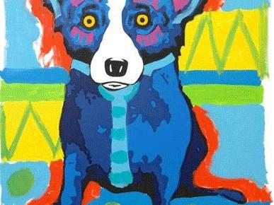 Il cane blu che ride