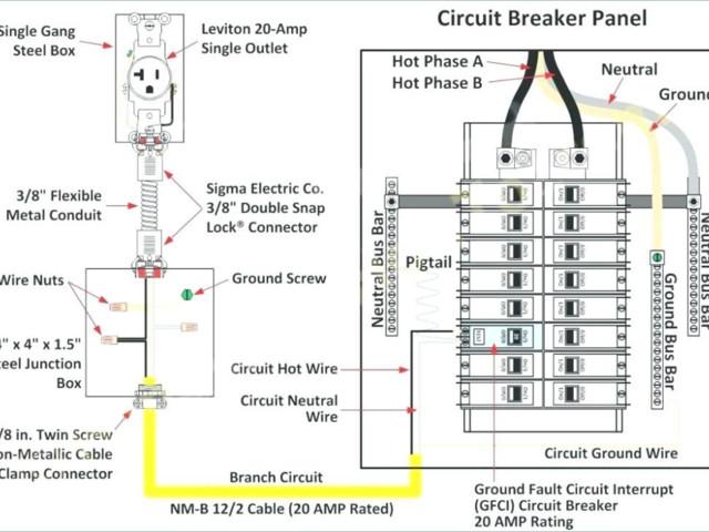 Phase Breaker Panel Wiring Diagram