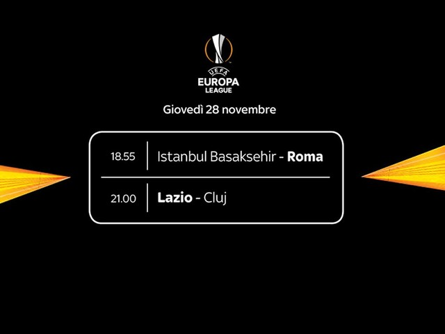 Sky Sport Diretta Europa League #5, Palinsesto Telecronisti Lazio e Roma