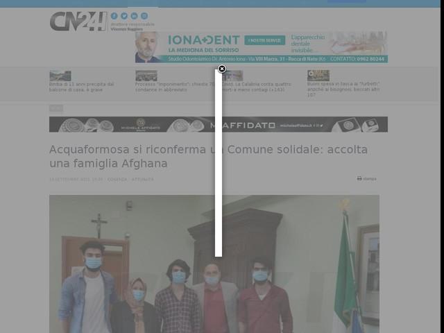 Acquaformosa si riconferma un Comune solidale: accolta una famiglia Afghana