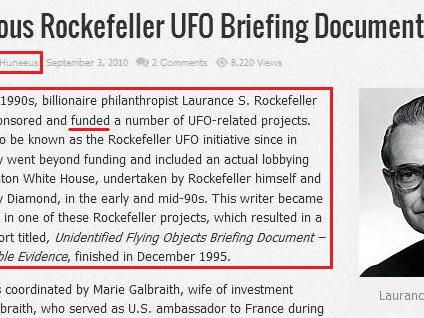 Perchè i RockFeller ed i Gesuiti sono dietro il Movimento Disclosure UFO ?