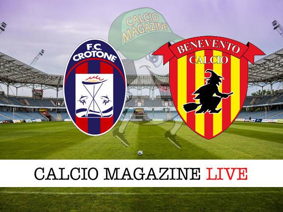 Crotone – Benevento: cronaca diretta live, risultato in tempo reale