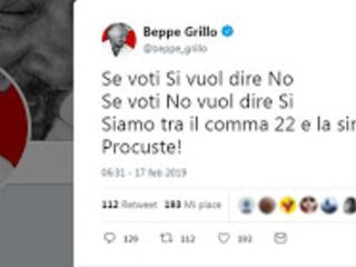 """Salvini: """"Speriamo che il voto on line dei 5s non finisca come a Sanremo dove la giuria ha ribaltato il voto popolare…""""."""