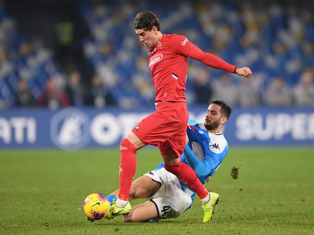 """Vlahovic: """"Con Cutrone bel rapporto. Gol e vittoria dedicate a Commisso, lavoro per la squadra"""""""