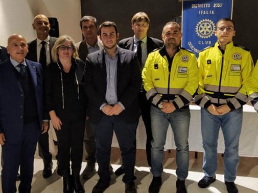 Rotary CVS e l'aiuto alla Protezione Civile, partecipata conviviale a Gazzuolo