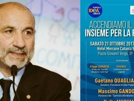 Gandolfini, in cerca di una poltrona in parlamento, si schiera con Musumeci alle elezioni siciliane