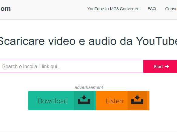 download video audio da youtube