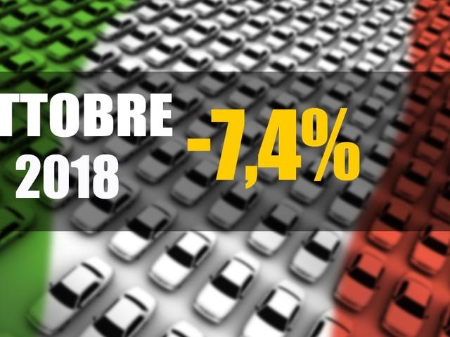 Mercato Italia - Vendite auto in calo del 7,4%