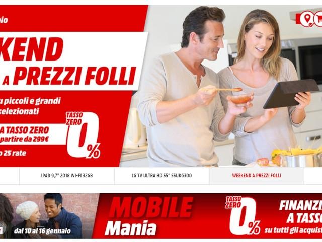 Weekend a Prezzi Follli da MediaWorld con il 10% di sconto su prodotti selezionati