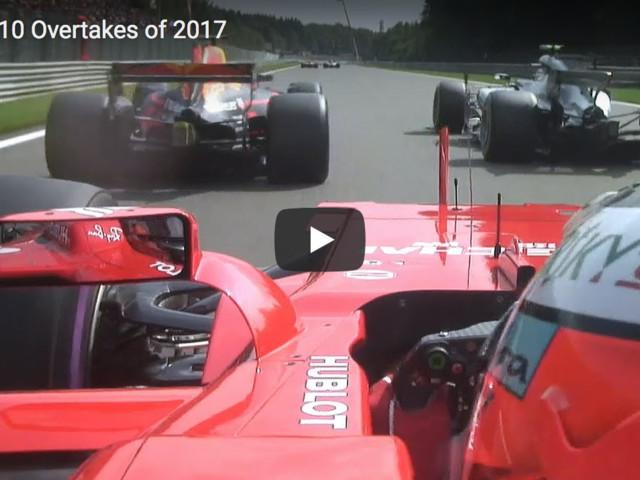 Formula 1, i 10 Sorpassi più Belli e Azzardati della stagione 2017 – VIDEO
