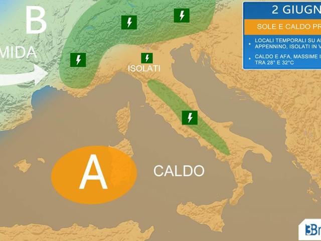 Meteo Italia 2 Giugno e weekend: CALDO ma anche LOCALI TEMPORALI