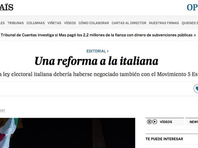 Legge elettorale: la stampa estera insegna giornalismo a quella italiana