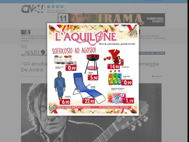 """""""Gli arcobaleni di altri mondi"""", la Fondazione Lilli omaggia De André"""