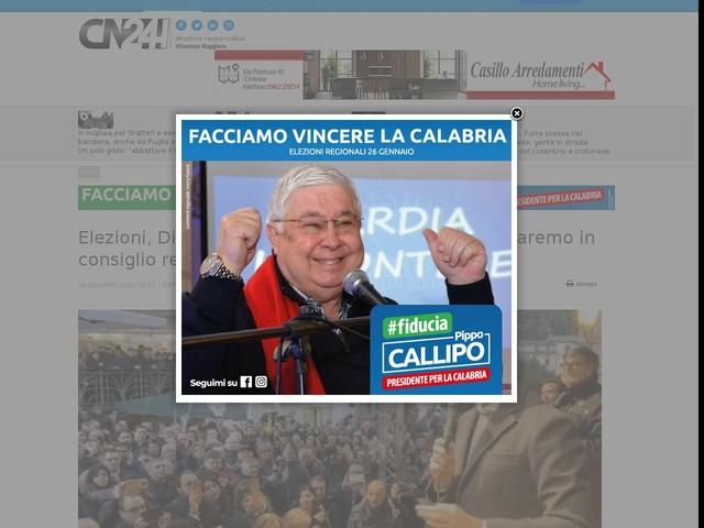 """Elezioni, Di Maio in Calabria: """"Per la prima volta saremo in consiglio regionale"""""""