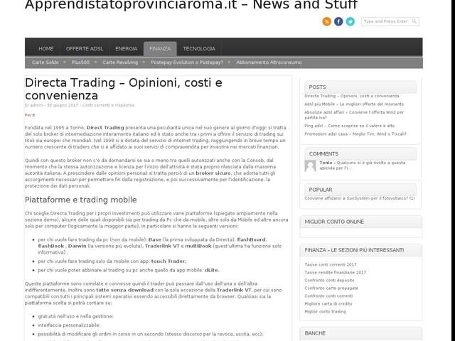 Directa Trading – Opinioni, costi e convenienza