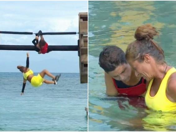 Valentina Persia cade rovinosamente in acqua e si fa male, la preoccupazione di Ilary Blasi